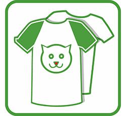 Печать на футболках кот