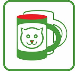 Печать на чашках кот